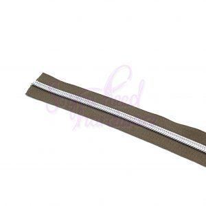 3 YARDS No. 5 Brown Zipper Tape - Includes 9 Zipper Pulls