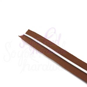 Brown No. 3 Zipper Tape - Includes 9 Matching Pulls
