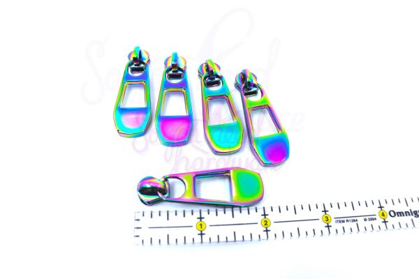 No. 5 Slotted Zipper Pulls for use on METAL TAPE ONLY - Set of 5