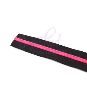 Fuschia Fire No. 5 Nylon Zipper Tape - NO Pulls Included