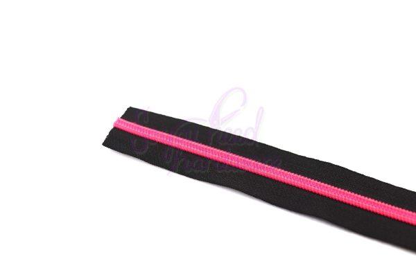 Fuschia Fire No. 5 Nylon Zipper Tape - NO Pulls Included