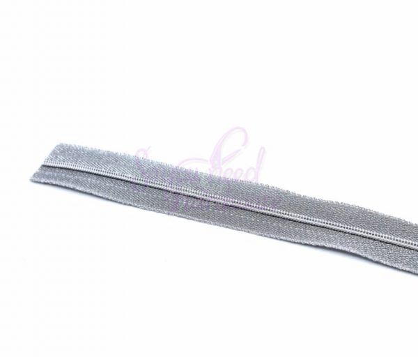 Liquid Silver No.5 Zipper Tape - Includes 9 No.5 Nickel Zipper Pulls