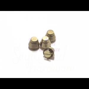 10mm Round Screw On Purse Feet - Set of 4