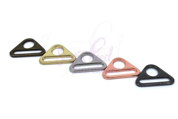 "Triangle 1"" D Ring - Set of 4"