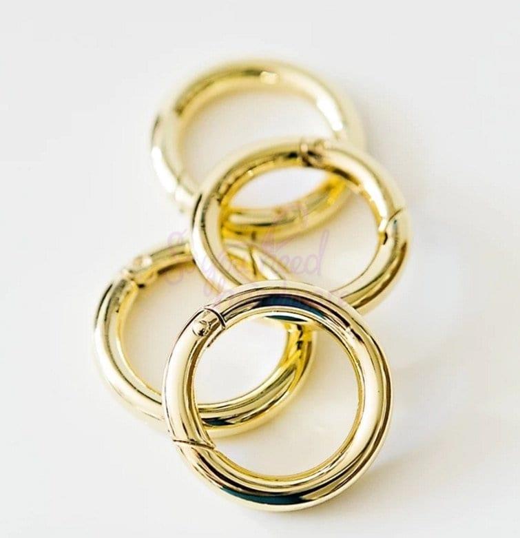 """1"""" Round Spring Gate Rings - Set of 4"""