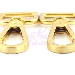 "1"" Brushed Gold Teardrop Clip - Set of 4"