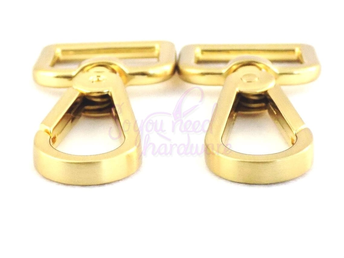 """1"""" Brushed Gold Teardrop Clip - Set of 4"""