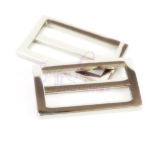 "1 1/2"" Nickel Rectangle Slider - Set of 2"
