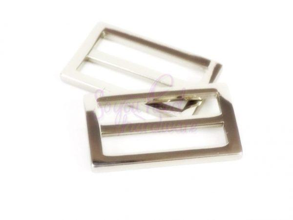 """1 1/2"""" Nickel Rectangle Slider - Set of 2"""